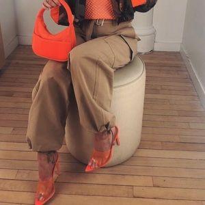 Orange pretty little thing heels
